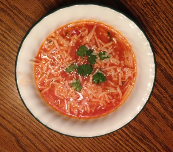 Mexican noodle soup - Sopa de Fideo