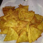 Home made taco chips