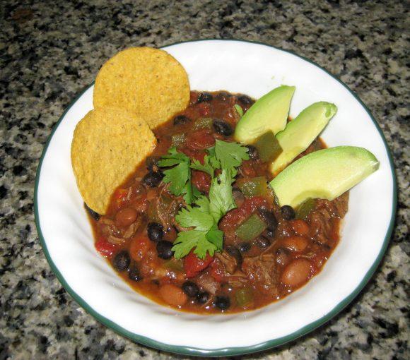 a bowl of chipotle chili con carne