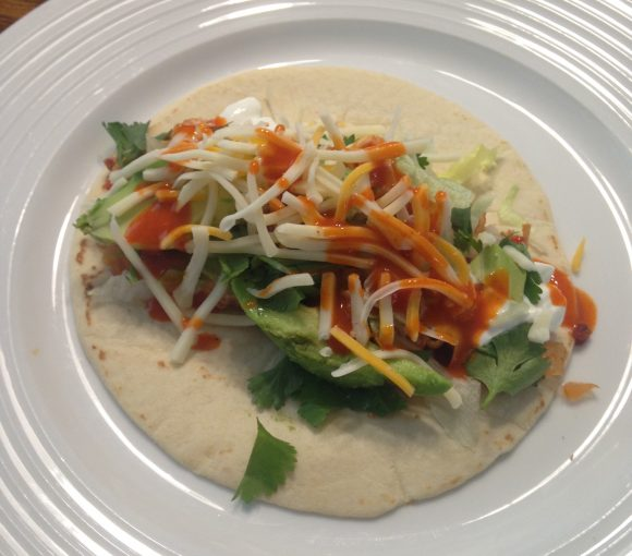 Chicken Tinga used in a taco